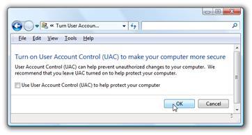 6 turn on user account