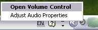 open volume control