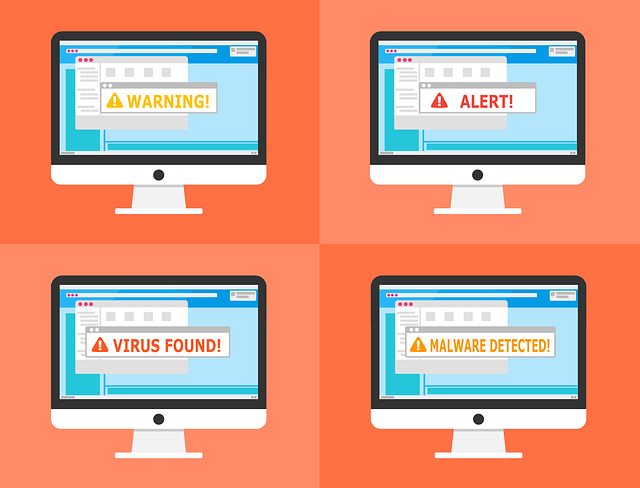 virus and malware warnings